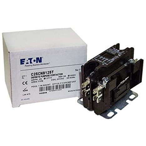 GE CR453CB3AAA - Replaced by Eaton/カトラー ハマー Contactor, 1-Pole with Shunt, 25 Amp, 24 VAC Coil Voltage 「汎用品」(海外取寄せ品)