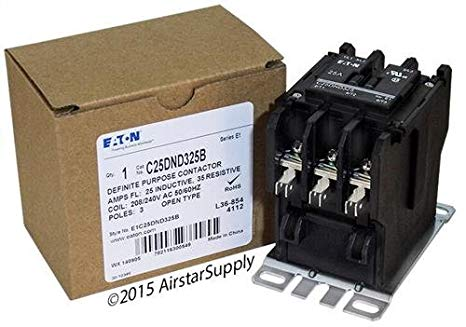 GE CR453AB3BAA - Replaced by Eaton / カトラー ハマー C25DND325B 50mm DP Contactor , 3-Pole , 25 Amp , 240 VAC Coil Voltage 「汎用品」(海外取寄せ品)
