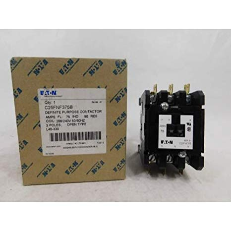 Siemens 42FE35AG106 - Replaced by Eaton / カトラー ハマー C25FNF375B Contactor , 3-Pole , 75 Amp , 240 VAC Coil Voltage 「汎用品」(海外取寄せ品)
