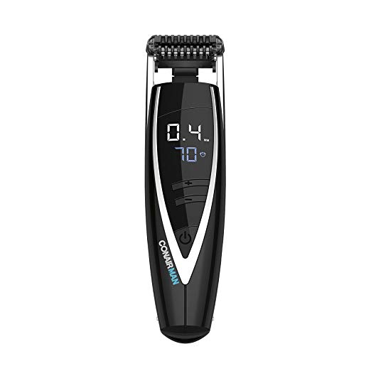 ConairMAN Super Stubble アルティメイト Flexhead Trimmer; Razor-Sharp Etched Blade テクノロジー with Pivoting フレックス Head; 15 デジタル Settings ranging from 0.4mm to 5.0mm; ブラック - Wet/Dry + Lithium イオン Powered 「汎用品」(海外取寄せ品)