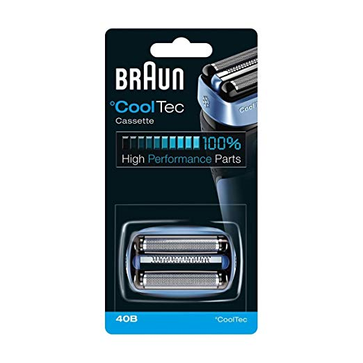 Braun 40B CoolTec Shavers Series リプレイスメント Shaving Foil Head and Cutter Cartridge, 1 カウント 「汎用品」(海外取寄せ品)