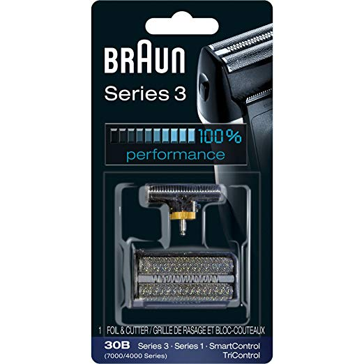 ブラウン Braun Series 3 30B Foil & Cutter リプレイスメント Head, Compatible with Previous Generation SmartControl, TriControl, 7000/4000 shavers, and Series 3 (340s) 「汎用品」(海外取寄せ品)