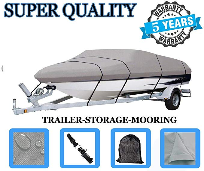SBU ボート カバー フィット BAYLINER 192 Discovery RUNABOUT CU 2006 2007, 600 Denier ウーブン Polyester (海外取寄せ品)