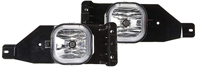 RXMOTOR FL-FD4-105-CL Ford Super Duty F250 Ford エクスカーション ペア of Bumper Driving Fog ライト 2005-2007, クローム (海外取寄せ品)