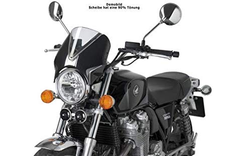 13-14 HONDA CB1100: Puig RetroVision Windscreen (BLACK/ダーク SMOKE) (海外取寄せ品)