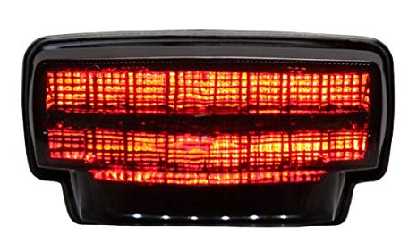 Integrated Sequential LED Tail ライト スモーク レンズ for 2007-2012 Honda CBR-600RR (海外取寄せ品)