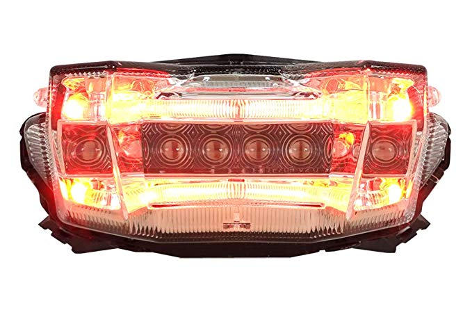 Integrated Sequential LED Tail ライト Clear レンズ for 2017-2019 ヤマハ FZ-09 MT-09 (海外取寄せ品)