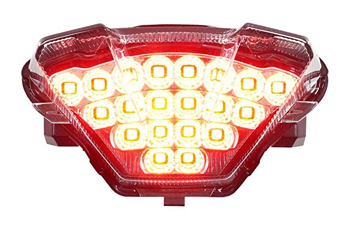 Integrated Sequential LED Tail ライト Clear レンズ for 2018-2019 ヤマハ MT-07 (海外取寄せ品)