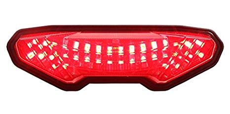 Integrated Sequential LED Tail ライト スモーク レンズ for 2014-2016 ヤマハ FZ-09 15-17 FJ-09 19+ トレーサー 900 (海外取寄せ品)