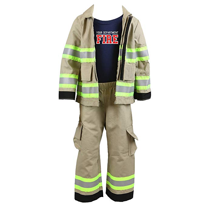 <title>パーソナライズ Firefighter Toddler クリアランスsale!期間限定! Full タン 3-ピース Outfit 3T 海外取寄せ品</title>