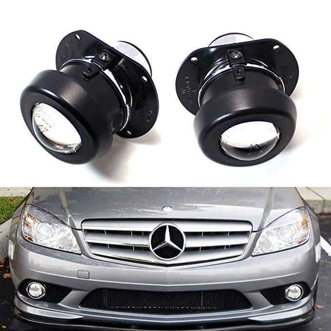 iJDMTOY (2) OEM Replace Projector Fog Light ハウジング For Mercedes C R CL SL SLK クラス, HID レディー (Bulbs Not Included) (海外取寄せ品)