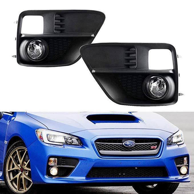 iJDMTOY Complete セット Clear レンズ Fog ライト Foglamp キット with H11 Bulbs & Wiring On/オフ Switch For 2015-2017 Subaru WRX Base (海外取寄せ品)
