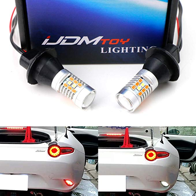 iJDMTOY (2) 54-SMD アンバー Full LED Sequential ダイナミック フラッシュ Turn Signal ライティング キット For 2016-up Mazda MX-5 ND Taillamps (海外取寄せ品)