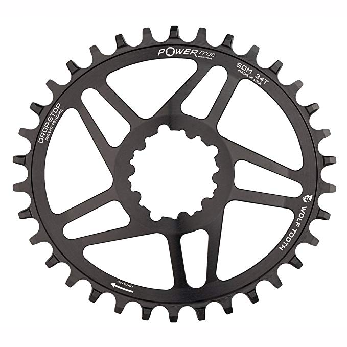 Wolf Tooth ダイレクト-Mount Elliptical/オーバル ドロップ-ストップ Chainring for SRAM Cranks (34t, RaceFace Cinch - Boost) (海外取寄せ品)