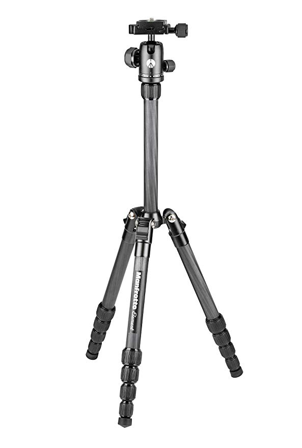 Manfrotto Element トラベラー スモール カーボン ファイバー 5-Section Tripod キット with Ball Head (MKELES5CF-BH) (海外取寄せ品)