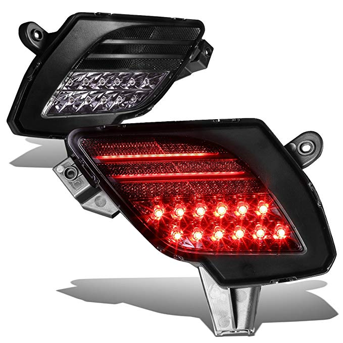 For Mazda CX5 ペア of Rear Bumper LED Reflector Tail Brake Fog ライト (Smoked Housing) (海外取寄せ品)