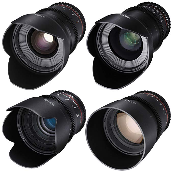 ROKINON CINE DS T1.5 シネマ レンズ キット - 50mm + 35mm + 85mm + 24mm for Canon EF (海外取寄せ品)