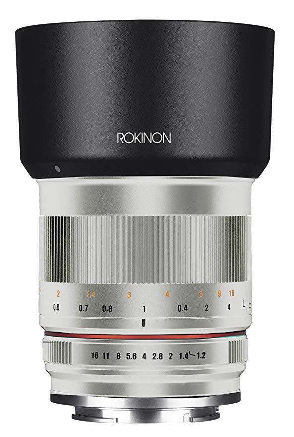 Rokinon RK50M-FX-SIL 50mm F1.2 AS UMC ハイ スピード レンズ for Fuji (Silver) (海外取寄せ品)