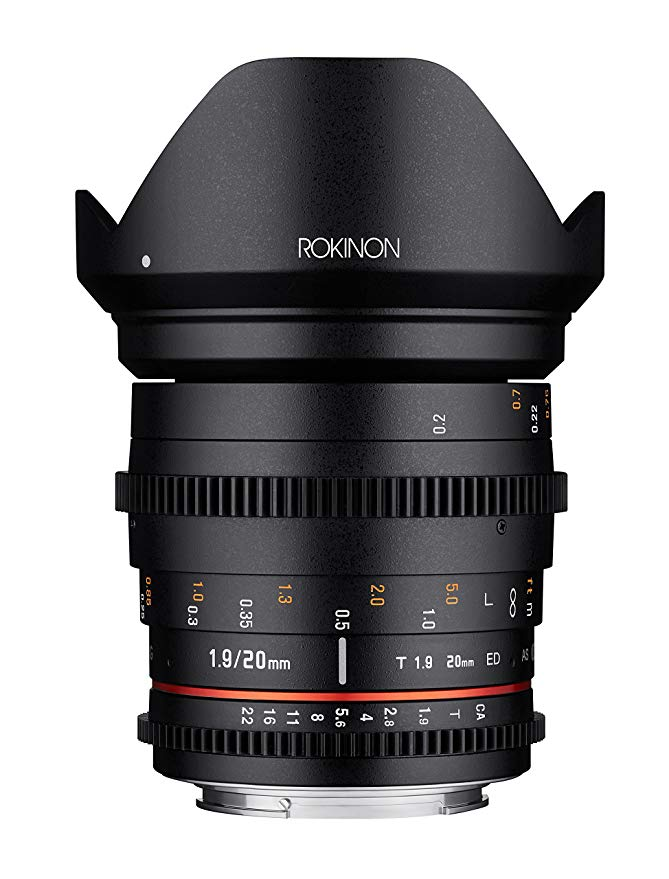 Rokinon 20mm T1.9 Cine DS AS ED UMC ワイド Angle Cine レンズ for Micro Four サード Mount (海外取寄せ品)