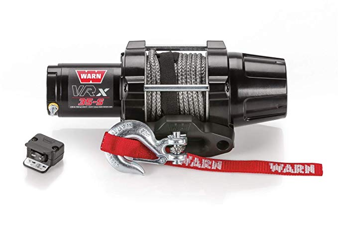 WARN 101030 VRX 35-S Powersports Winch With シンセティック Rope (海外取寄せ品)