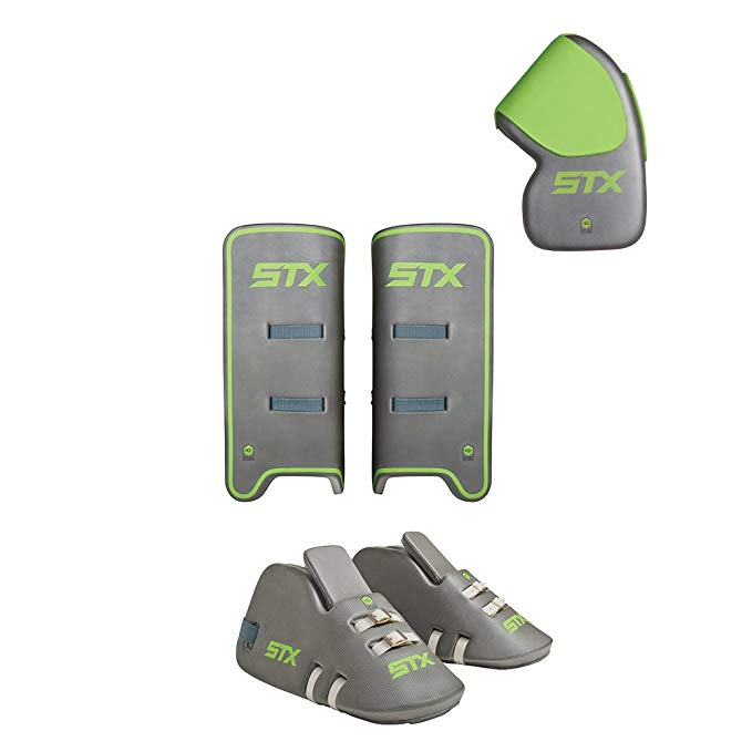 STX フィールド Hockey Deny Youth Goalie セット with Goalie グローブ, Kickers and レッグ Guards, One サイズ, グレー (海外取寄せ品)