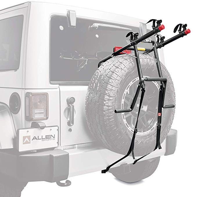 Allen スポーツ Deluxe 2-バイク Spare Tire Mounted Carrier (海外取寄せ品)