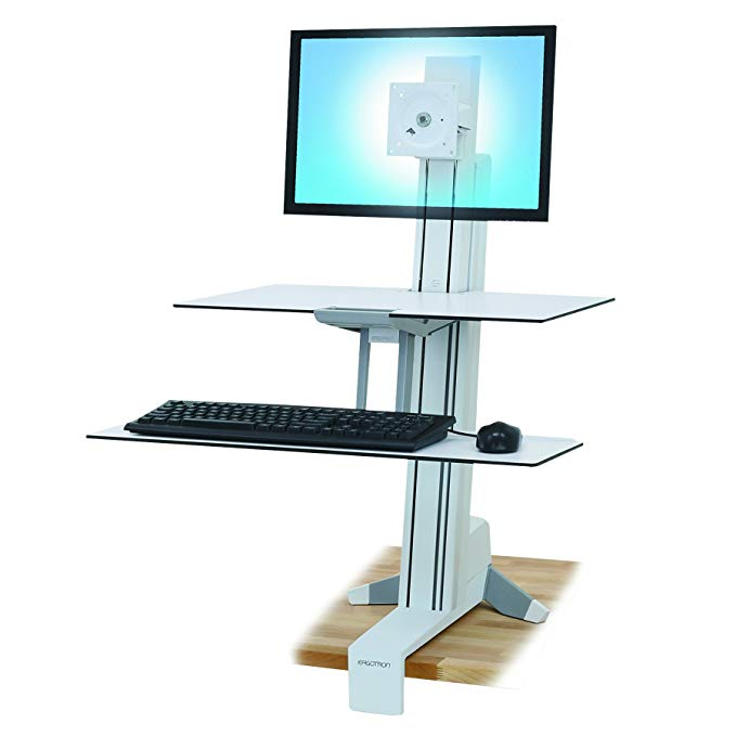 Ergotron 33-350-211 WorkFit-S シングル LD with Work Surface and Stand (海外取寄せ品)