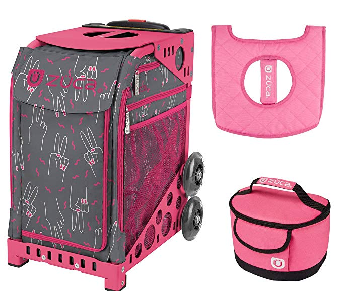 Zuca スポーツ Bag - ピース Now (Limited Edition) with ギフト Lunchbox and シート カバー (Pink Frame) (海外取寄せ品)
