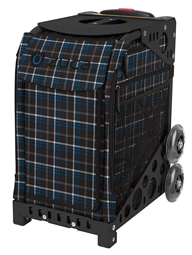 ZUCA Imperial Plaid スポーツ インサート Bag and ブラック フレーム with Non Flashing Wheels (海外取寄せ品)