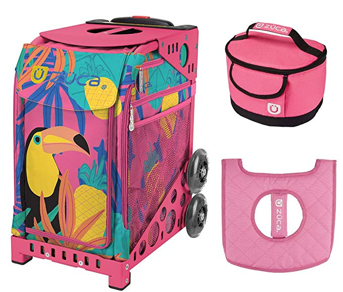 Zuca スポーツ Bag - Toucan ドリーム with ギフト Lunchbox and シート カバー (Pink Frame) (海外取寄せ品)