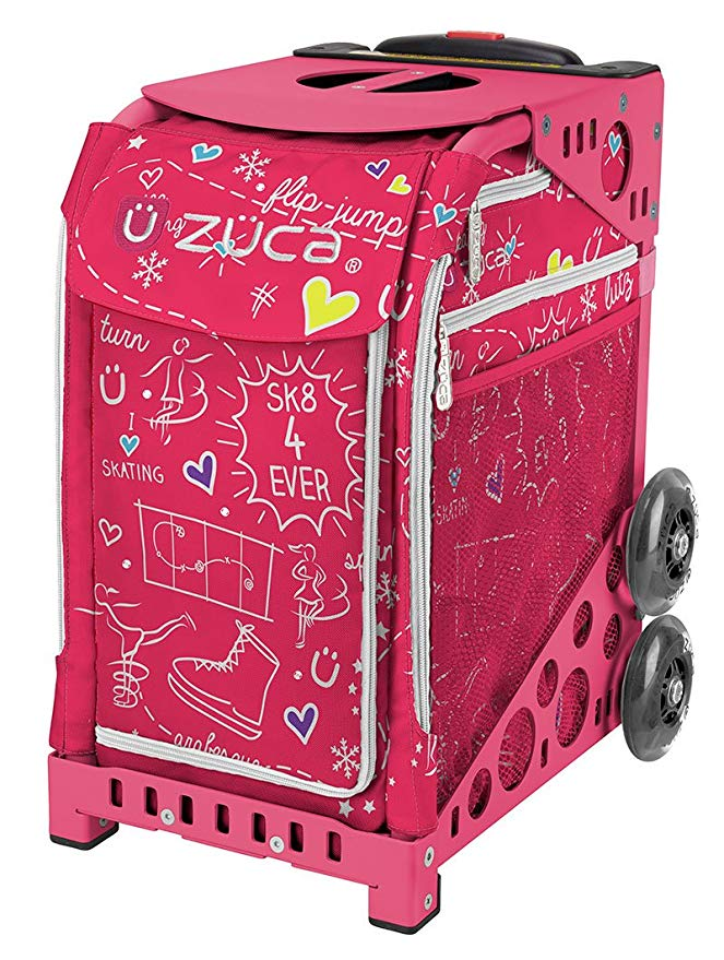 ZUCA ピンク SK8 スポーツ インサート Bag and ピンク フレーム with Flashing Wheels (海外取寄せ品)