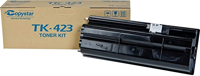 Kyocera 1T02FT0CS0 Model TK-423 ブラック Toner Cartridge For use with Kyocera/Copystar CS-2550 and KM-2550 デジタル Multifunctionals, Up to 15000 ページ Yield at 5% Average Coverage (海外取寄せ品)