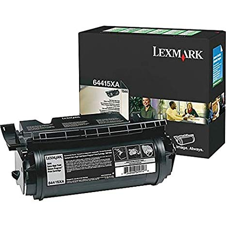 Lexmark T644 ブラック Toner Cartridge - OEM - OEM# 64415XA - ハイ Yield - 32K - Also for T640 and other (海外取寄せ品)