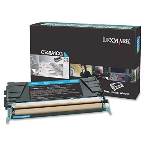 LEXC746A1CG - Lexmark C746, C748 シアン Return Program Toner Cartridge (海外取寄せ品)
