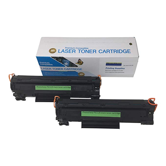 2 Compatible リプレイスメント Cannon imageCLASS D530 D550 ブラック Ink Toner Cartridge to Replace キャノン Canon 128 for Cannon イメージ-クラス D-530 D-550 Copy マシーン Laser Printer by PhotoSharp (海外取寄せ品)