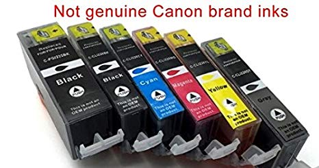6 Photosharp Cannon MG6220 プリント Ink Toner Cartridge リプレイスメント Compatible with PGI-225L/CLI-226 (PGBK/BK/C/M/Y/GY Grey) ブラック/シアン/Magenta/イエロー/グレー Pixma MG-6220 オール-in-one Inkjet Photo Printer (海外取寄せ品)