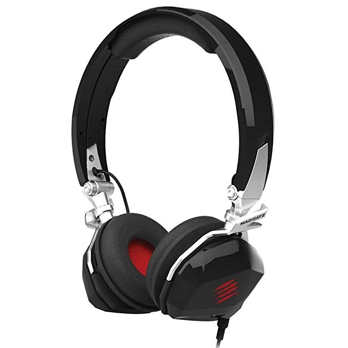 Mad Catz F.R.E.Q. M Mobile ステレオ ヘッドセット for PC/Mac, iPhone 7, アンドロイド Android, サムスン Mobile Device - Foldable Headphones in グロス ブラック (海外取寄せ品)