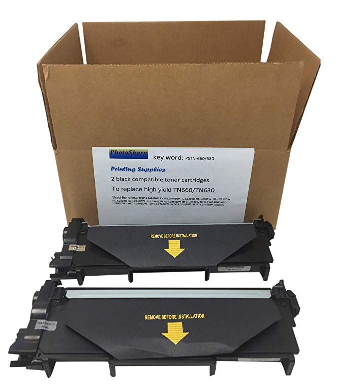 2 Compatible MFC-L2740DW/2720DW TN660/TN630 ブラック Ink Toner Cartridge リプレイスメント for ハイ Yield Brother TN66O/TN63O MFCL2740DW Wireless オール in one マルチ-Function Laser Printer/Copier (TN-660/630) (海外取寄せ品)