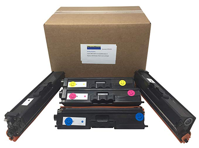 5 Compatible HL-L8360CDW/L8360CDWMT TN431/TN433 Ink Toner Cartridge リプレイスメント for Brother TN-431BK /431C/431M/431Y (2 BK ブラック/C シアン/M Magenta/Y Yellow) L8360 CDW カラー Laser Printer (海外取寄せ品)