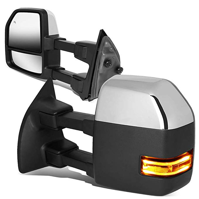 DNA Motoring TWM-052-T999-CH-CL Powered+Heated+LED Turn Signal Side Towing ミラー リプレイスメント (海外取寄せ品)[汎用品]