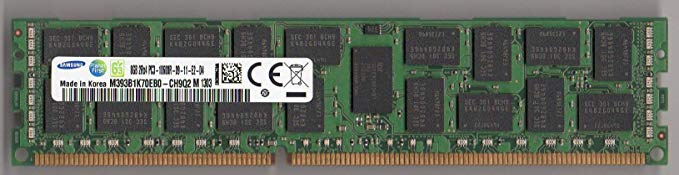 サムスン M393B1K70EB0-CH9Q2 PC3-10600R DDR3-1333 8GB ECC REG 2RX4 (FOR SERVER ONLY) (海外取寄せ品)