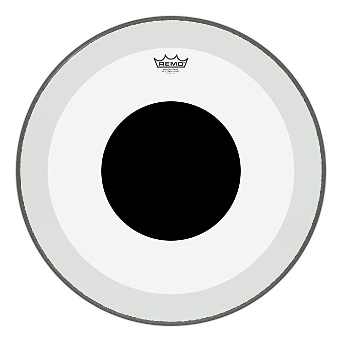 Remo P31322-10 Clear Powerstroke 3 Bass Drum Head - 22-インチ - ブラック Dot (海外取寄せ品)