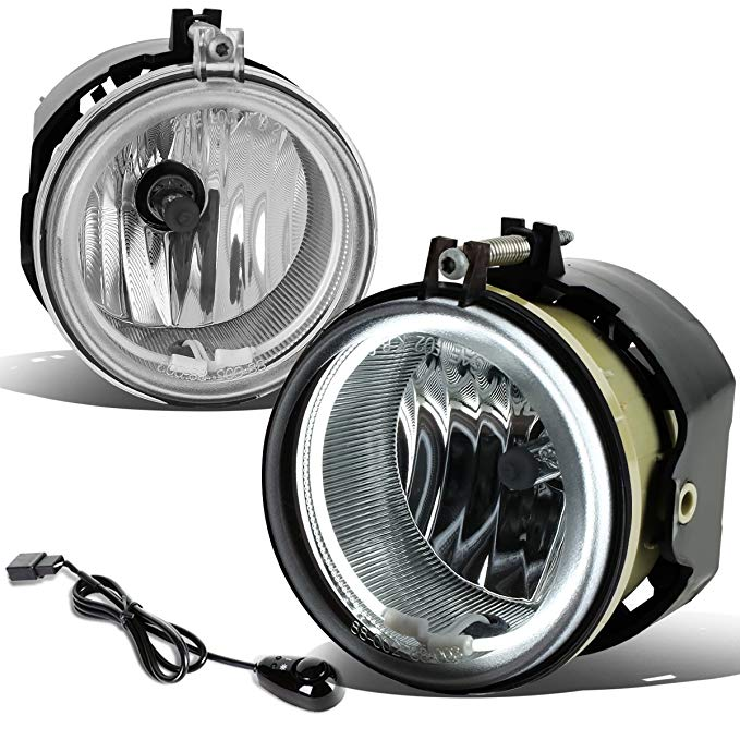 For Dodge Charger/Challenger ペア of Bumper Halo リング Fog Lights+Switch+CCFL Power Inverter (Chrome Lens) (海外取寄せ品)