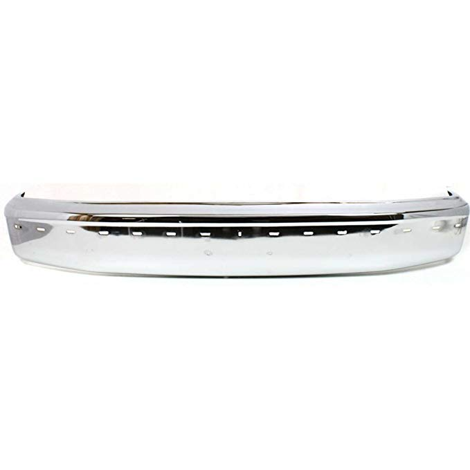 Bumper for Ford Bronco 92-96/F-Series 92-97 フロント Bumper クローム w/Pad Holes (海外取寄せ品)[汎用品]