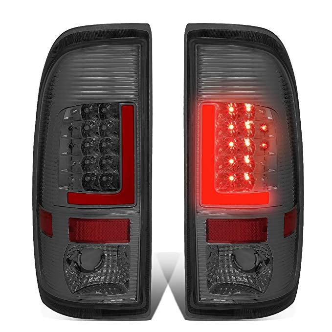 DNA Motoring TL-F15097-LED-RD3D-CH-SM 3D LED Tail Light (Driver & Passenger Side) (海外取寄せ品)[汎用品]