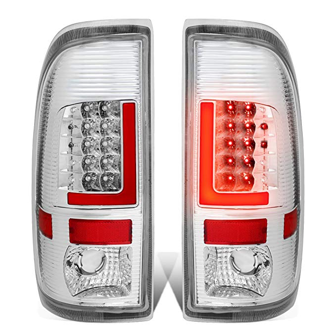 DNA Motoring TL-F15097-LED-RD3D-CH-CL 3D LED Tail Light (Driver & Passenger Side) (海外取寄せ品)[汎用品]