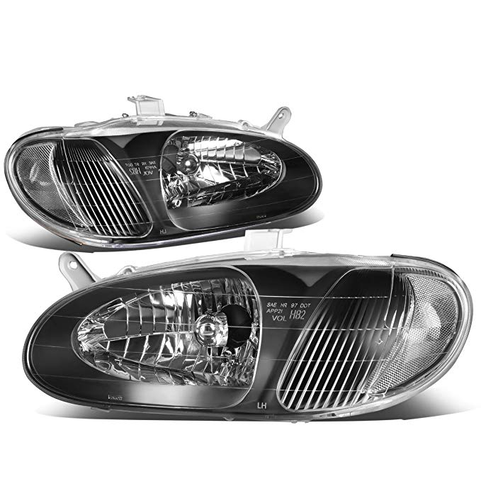 DNA Motoring HL-OH-058-BK-CL1 ペア ブラック/Clear Headlight [for 98-01 Sephia] (海外取寄せ品)[汎用品]