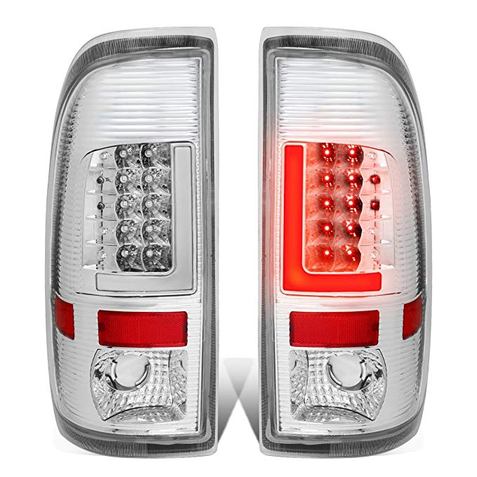 DNA Motoring TL-F25008-LED-3D-CH-CL 3D LED Tail Light (Driver & Passenger Side) (海外取寄せ品)[汎用品]