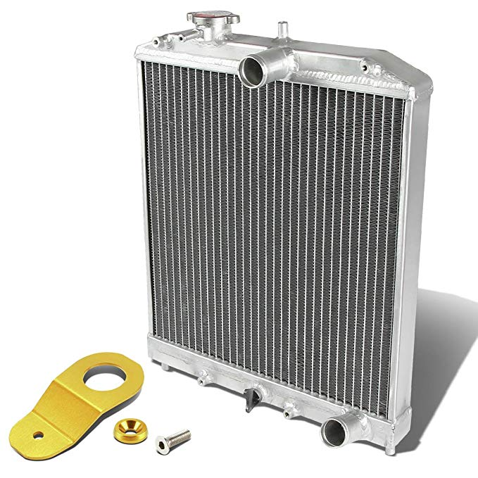 DNA 2-Row Radiator+Gold Stay Mounting Bracket - For Honda EK マニュアル Transmission MT (海外取寄せ品)[汎用品]