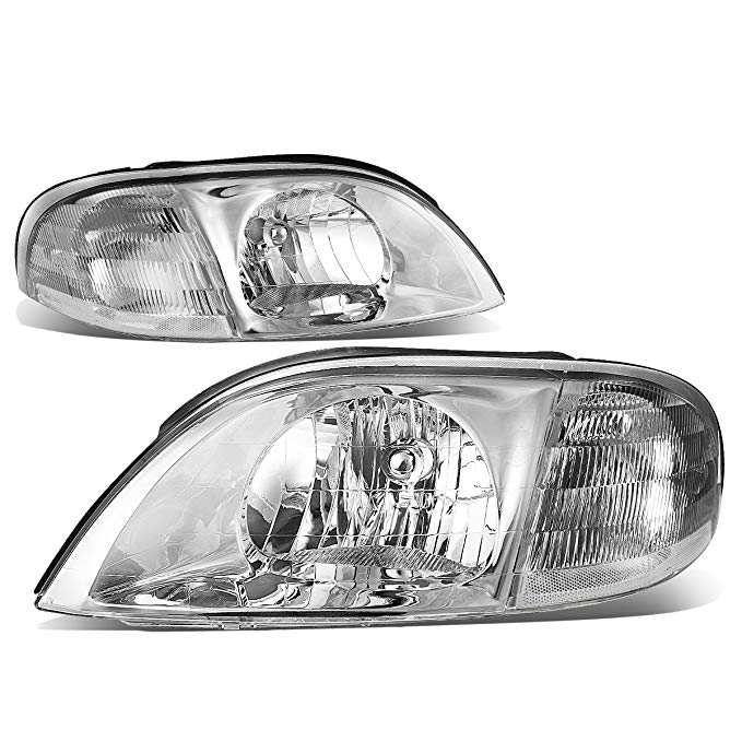 DNA Motoring クローム HL-OH-032-CH-CL1 Clear レンズ Headlights ランプ [99-03 Ford Windstar] (海外取寄せ品)[汎用品]